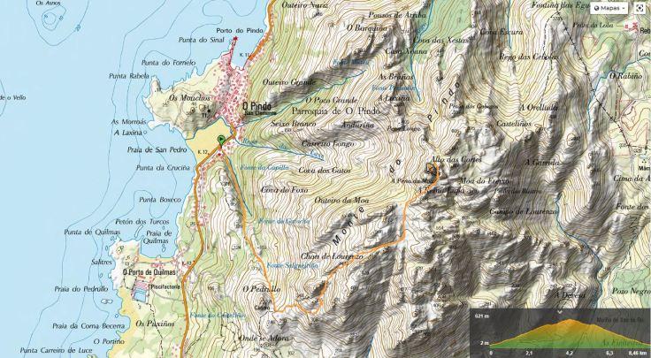 Croquis de la ascensión al Monte Pindo.