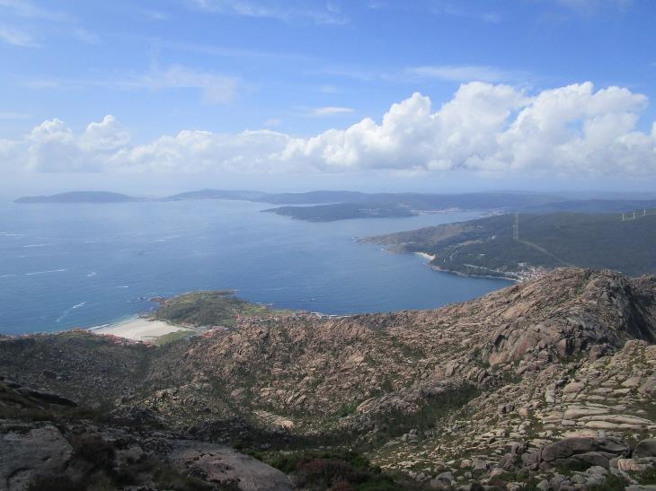 Vistas desde la cima de Monte Pindo.
