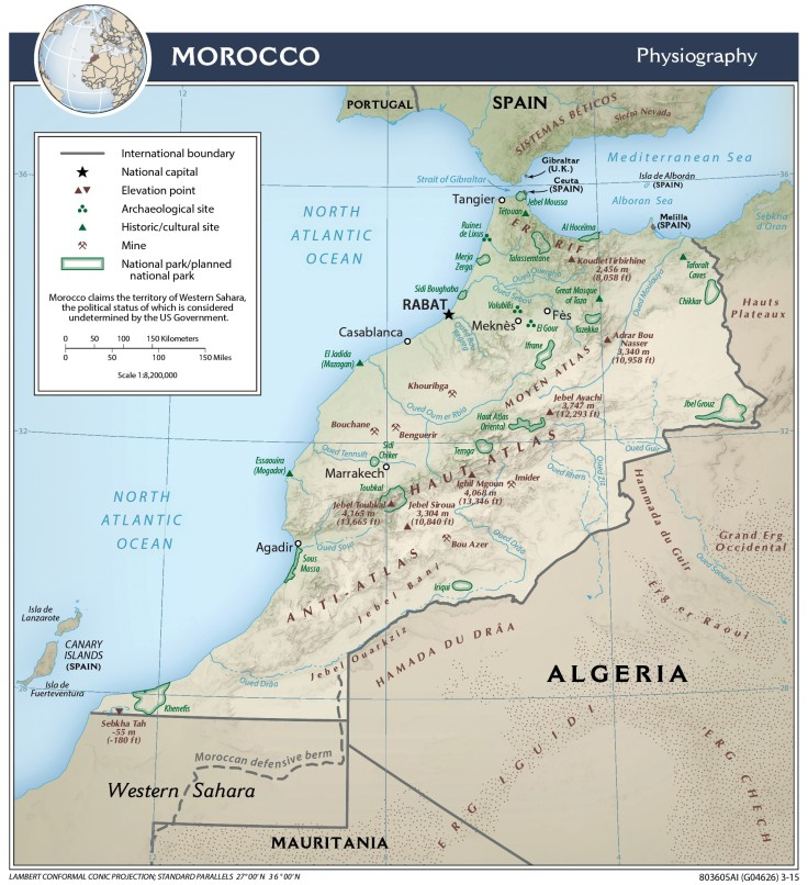 Morocco_Physiography